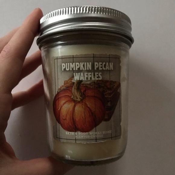 Pumpkin Pecan Waffles BBW Candle Mason Jar